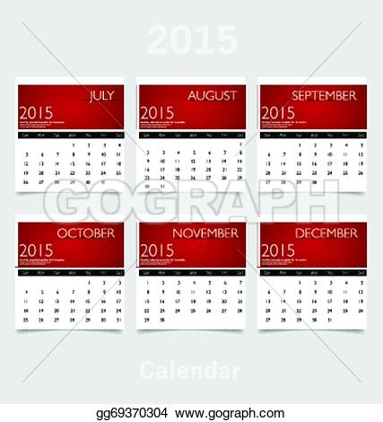 October 2015 calendar clipart svg library stock Vector Illustration - Simple 2015 year calendar (july, august ... svg library stock