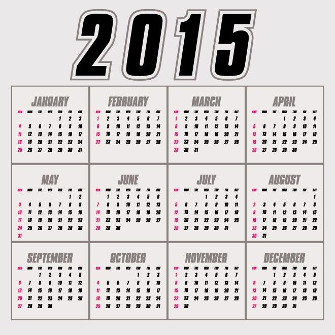 October 2015 calendar clipart graphic transparent 2015 calendar page clipart - ClipartFest graphic transparent