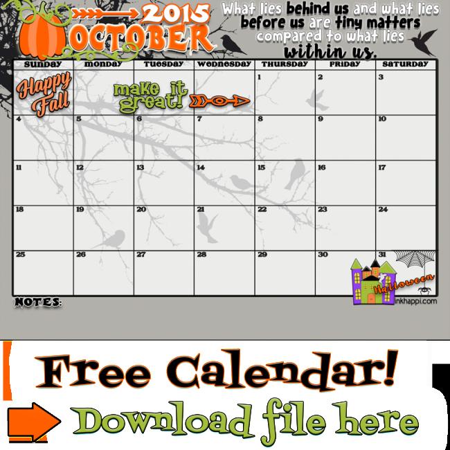 October 2015 calendar clipart graphic transparent October 2015 Calendar... Come and get it | October, Free printables ... graphic transparent