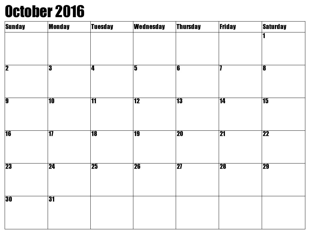 October 2016 clip transparent download October 2017 Printable calendar | Printable Calendar Templates clip transparent download