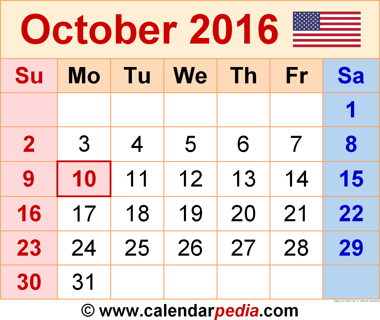 October 2016 picture royalty free download October 2016 Calendars for Word, Excel & PDF picture royalty free download