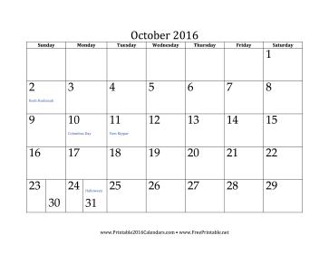 October 2016 clip art transparent stock Printable October 2016 Calendar clip art transparent stock