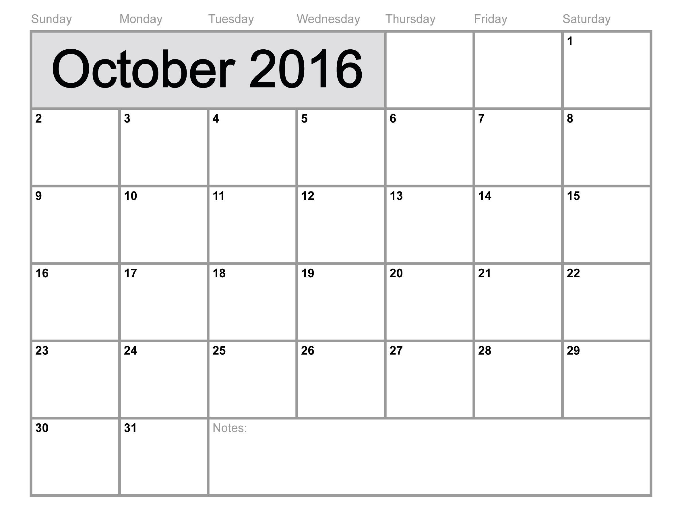 October 2016 clip art transparent stock October 2016 Calendar | monthly calendar printable clip art transparent stock