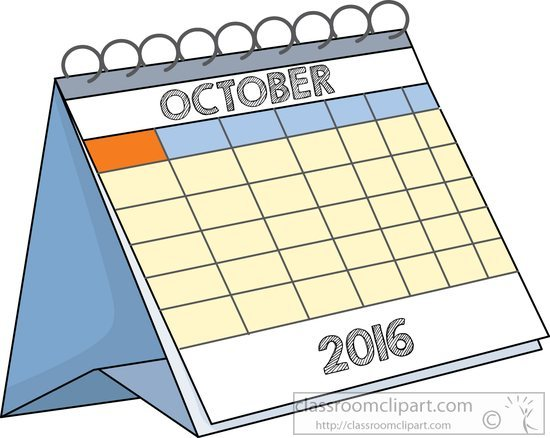 October 2016 clipart image free Desk calendar october 2016 » Clipart Portal image free