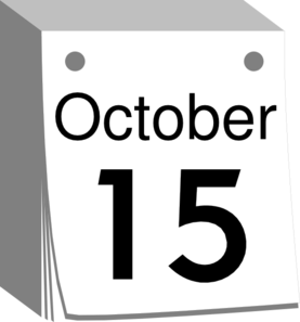 October 3rd clipart black and white png royalty free download October Calendar Date Clip Art at Clker.com - vector clip art online ... png royalty free download