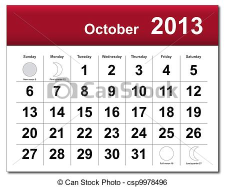 October calendar pictures clipart jpg freeuse download October Illustrations and Clipart. 69,836 October royalty free ... jpg freeuse download