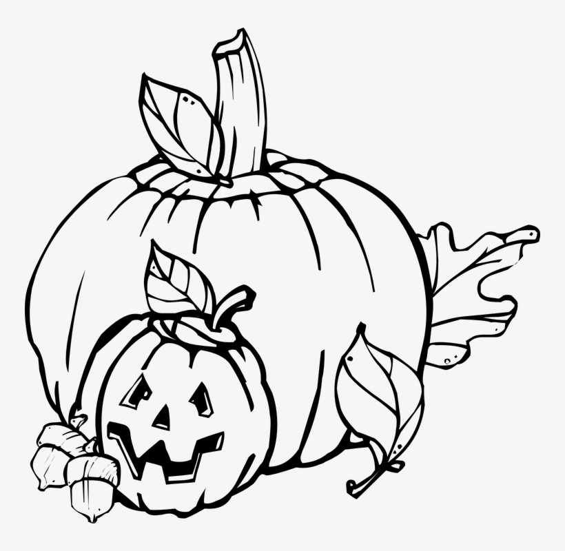 October clipart black and white vector black and white library Pumpkin Clipart Apple - October Clip Art Black And White - Free ... vector black and white library