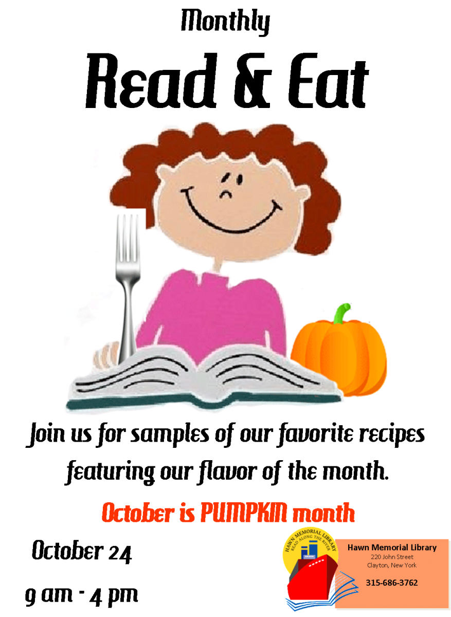 October month clip art graphic October - Read and Eat Event! | Hawn Memorial Library graphic