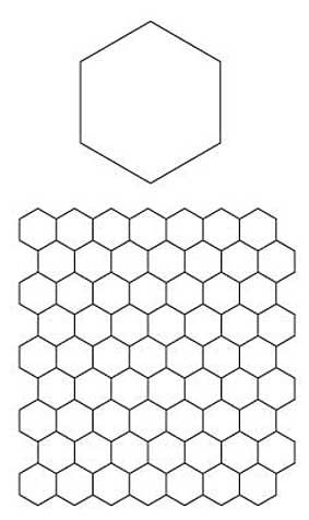 Octogon black and white quilt block clipart banner black and white download English Paper Piecing Hexagons Pattern...free download | All ... banner black and white download