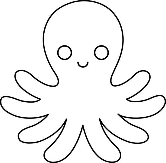 Octopus clipart outline image library download Octopus Outline - ClipArt Best | Black & white | Octopus ... image library download