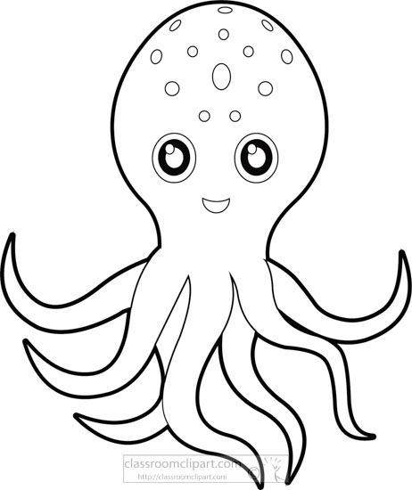 Octopus clipart outline graphic royalty free library Octopus Outline Drawing | Free download best Octopus Outline ... graphic royalty free library