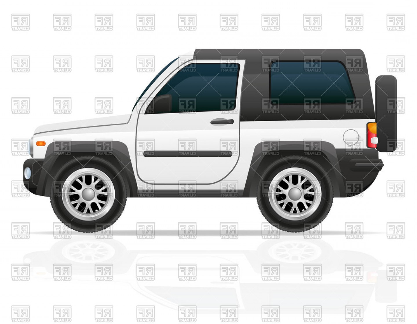 Off road vehicle clipart banner transparent library Off Road Vehicle X Suv Side View Vector Clipart | SOIDERGI banner transparent library