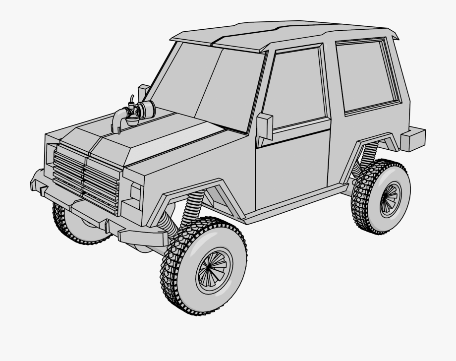 Off road vehicle clipart graphic free download Jeep Offroad Clipart Png - Off-road Vehicle , Transparent ... graphic free download
