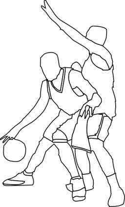 Offense clipart graphic black and white Free Basketball Offense And Defenses Clipart and Vector ... graphic black and white