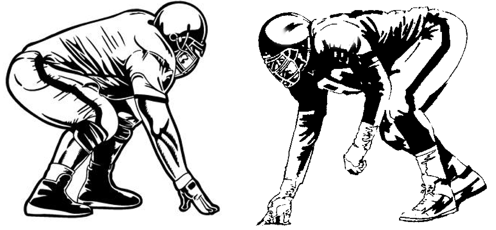 Offensive lineman clipart jpg black and white Football Offensive Lineman Png & Free Football Offensive ... jpg black and white