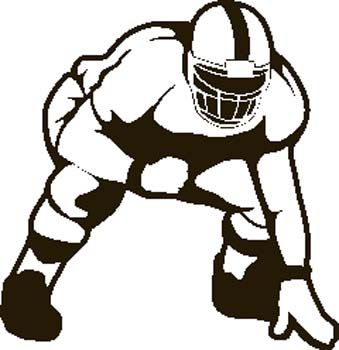 Offensive lineman clipart picture library library Football player clip art at vector image - Cliparting.com ... picture library library