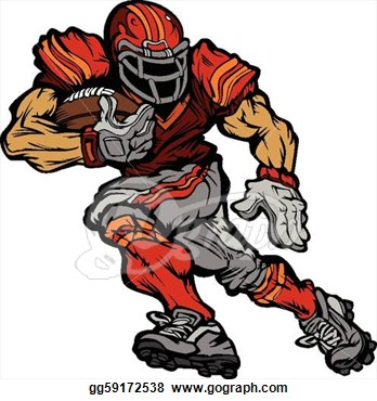 Offensive lineman clipart picture black and white download Football Offensive Lineman Clipart | Clipart Panda - Free ... picture black and white download