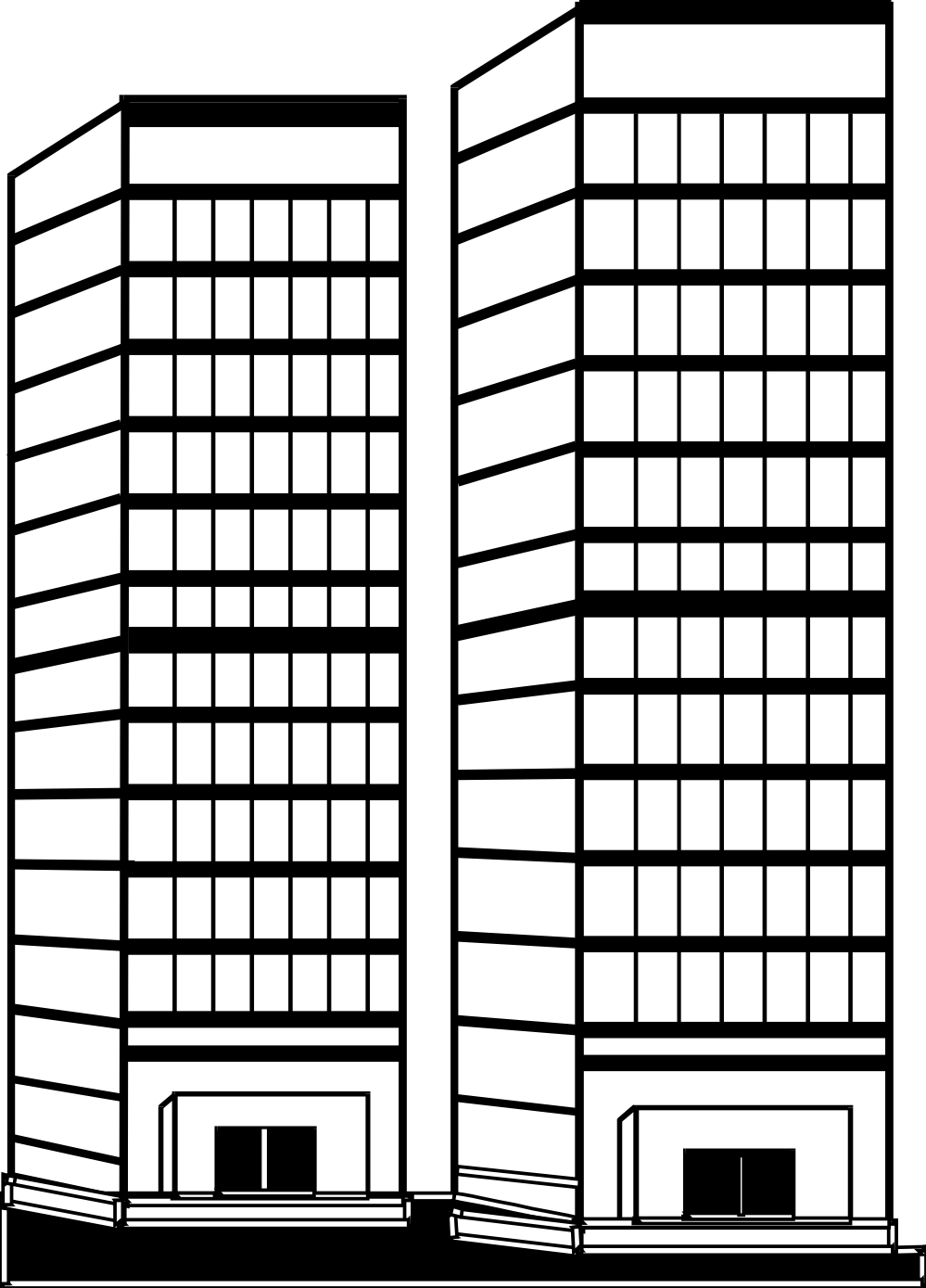 Office building clipart black and white png svg black and white library Office building clipart black and white png - ClipartFest svg black and white library