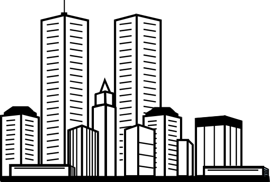 Office building clipart black and white png clip transparent stock Building clipart black and white png - ClipartFest clip transparent stock