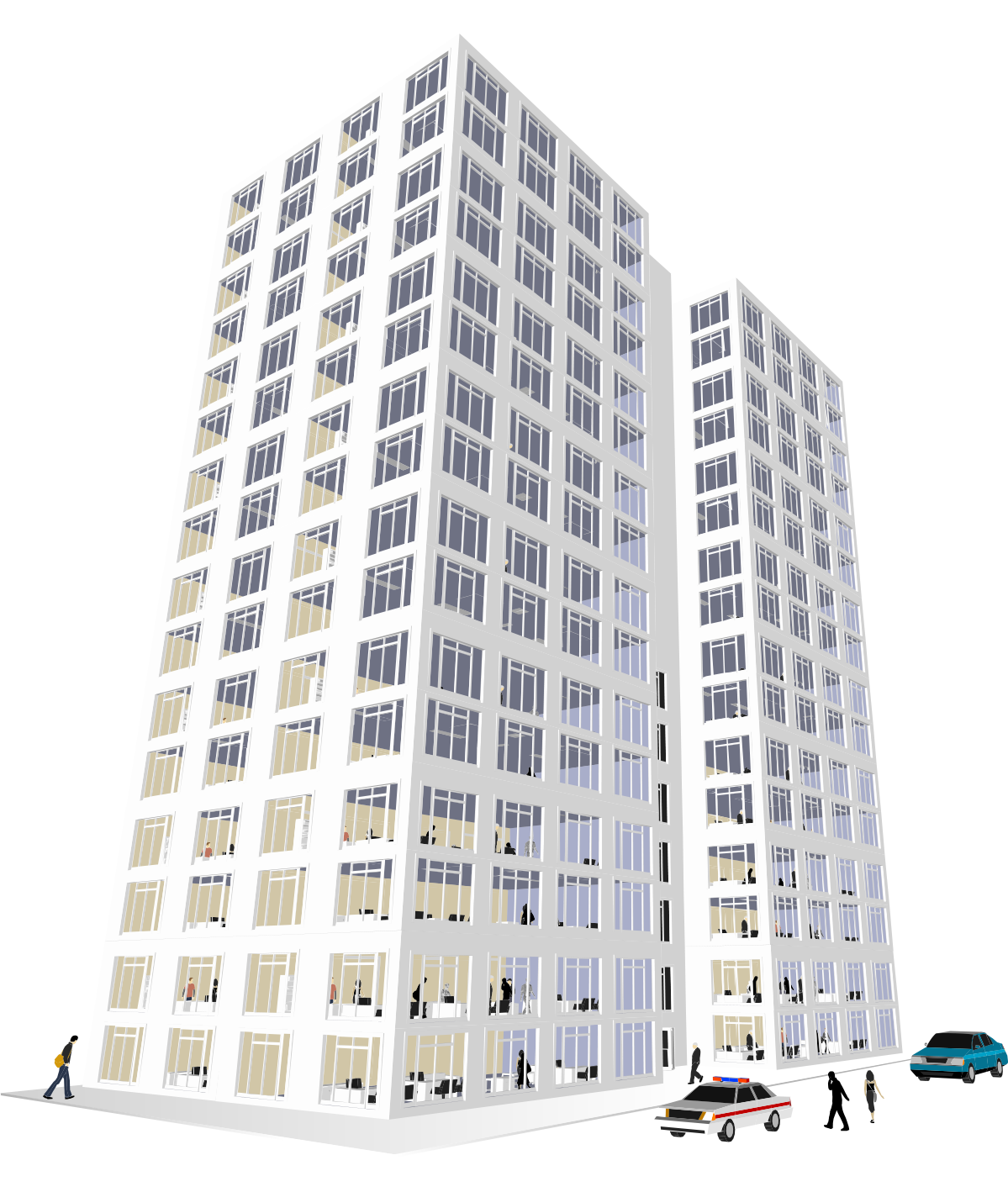Office building clipart png clip art freeuse download Office Building Clip art - White skyscrapers street 1199*1418 ... clip art freeuse download