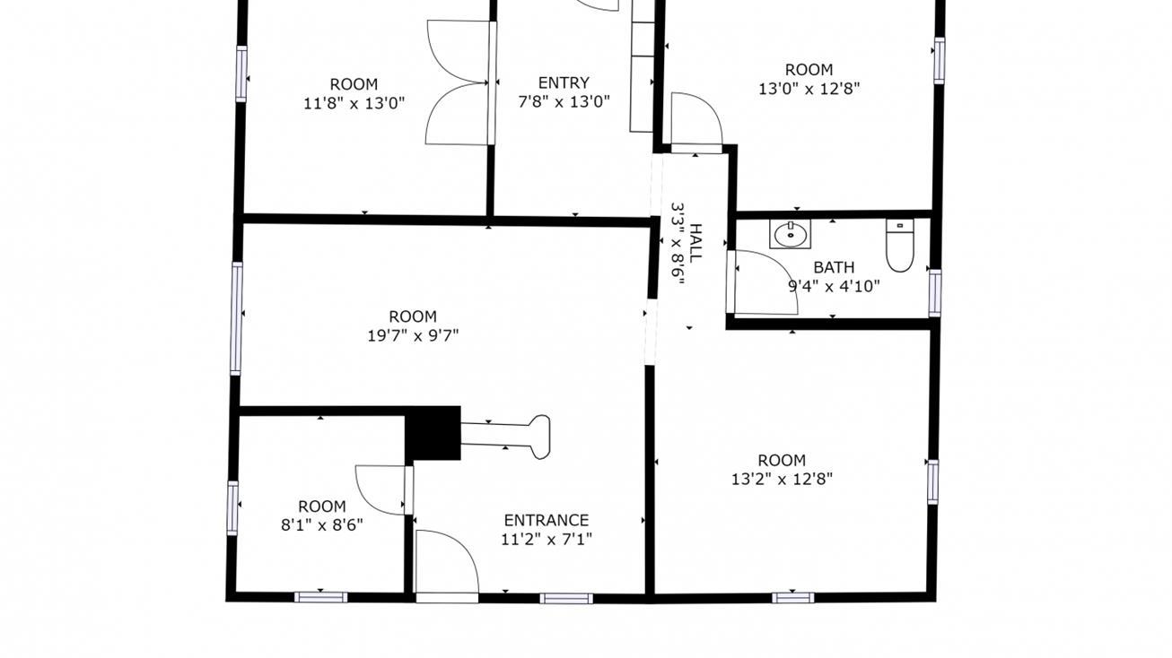 Office building floor plan black & white clipart clip royalty free Office Building Drawing | Free download best Office Building ... clip royalty free