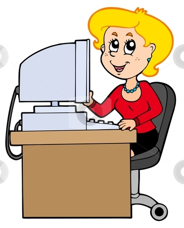 Office clerk clipart clipart black and white download Cartoon Office Clipart - Clipart Kid clipart black and white download