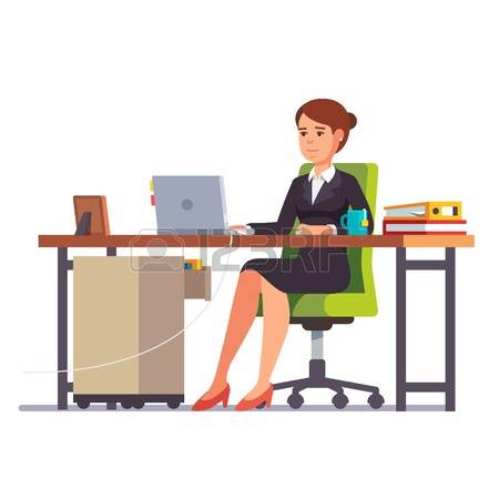 Office clerk clipart clip freeuse stock Female Office Clerk Images & Stock Pictures. Royalty Free Female ... clip freeuse stock