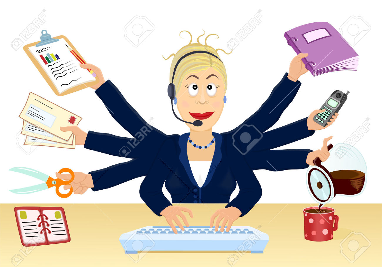 Office clerk clipart picture free stock Office clerk clipart - ClipartFest picture free stock