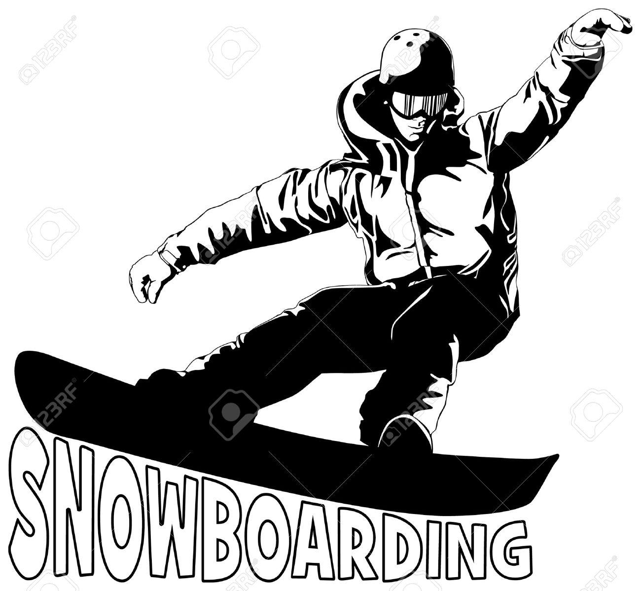 Office com holding a snowboard clipart black and white banner black and white library Snowboard clipart vector - 168 transparent clip arts, images ... banner black and white library