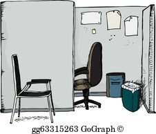 Office cubicles clipart image stock Cubicle Clip Art - Royalty Free - GoGraph image stock