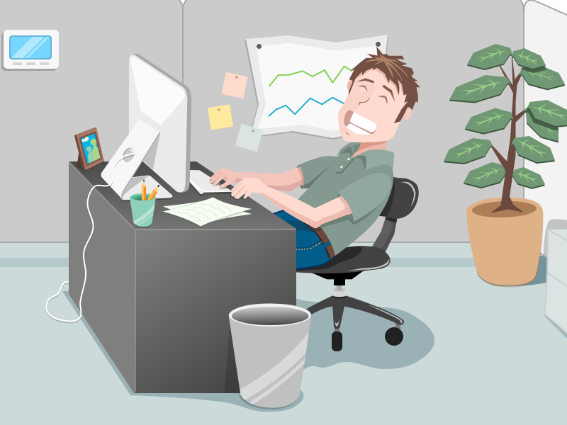Office scene clipart freeuse download Office Scene by Jacob Bordieri on Dribbble freeuse download