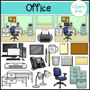 Office scene clipart png freeuse download Office Clip Art in 2019   Allison Fors Educational Clipart ... png freeuse download