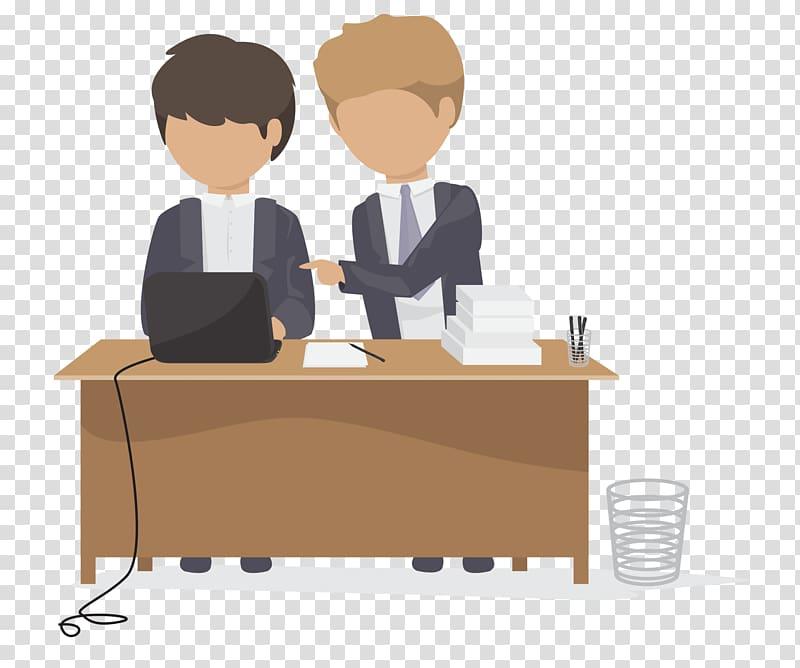 Office scene clipart clip art transparent stock Office Logo Cartoon Icon, Office work scene transparent ... clip art transparent stock