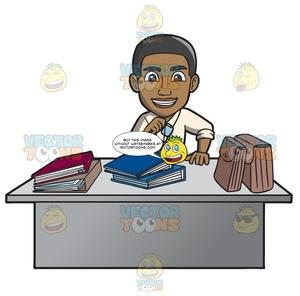 Office worker clipart images picture freeuse stock A Happy Black Male Office Worker picture freeuse stock