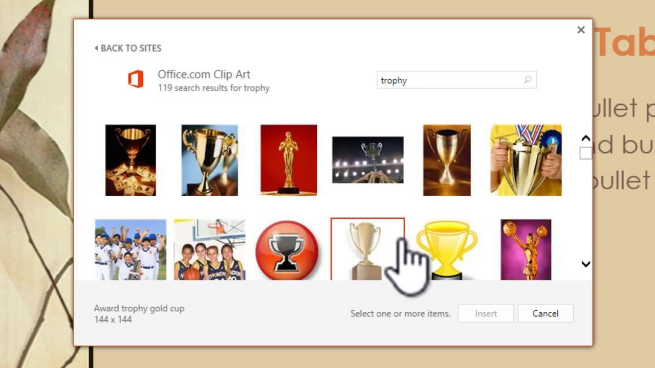 Officecom clipart not showing image free stock How to add clip art in PowerPoint and Word 2013 - YouTube image free stock