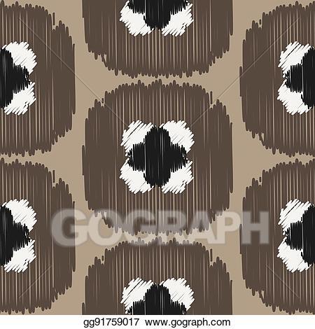 Ogee print clipart jpg free download Vector Illustration - Ikat ogee vector seamless pattern. EPS ... jpg free download