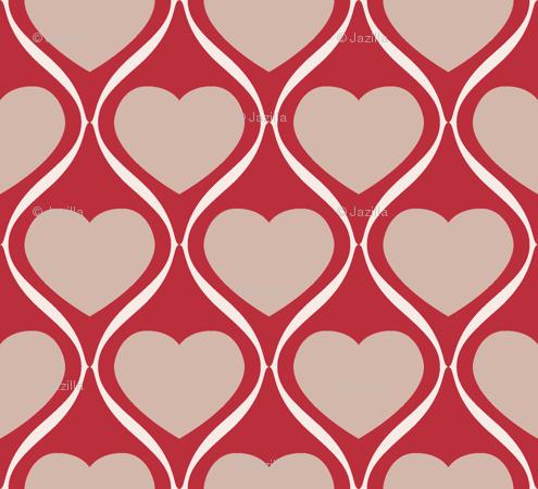 Ogee print clipart banner transparent stock Ogee Heart MRB wallpaper - jazilla - Spoonflower banner transparent stock