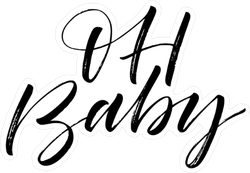 Oh baby clipart svg royalty free download Oh Baby Calligraphy Sticker svg royalty free download