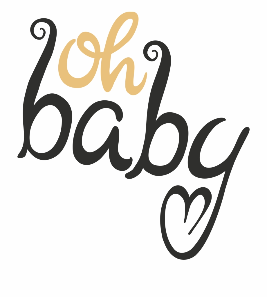 Oh baby clipart clipart download Baby Shower Word Art Overlays - Oh Baby Transparent Free PNG ... clipart download