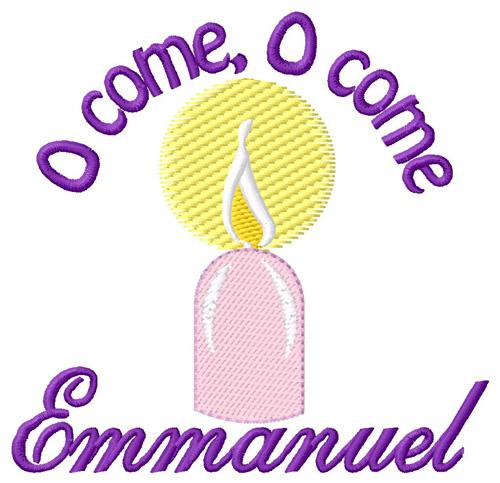 Oh come emmanuel clipart jpg O Come Emmanuel Embroidery Design jpg