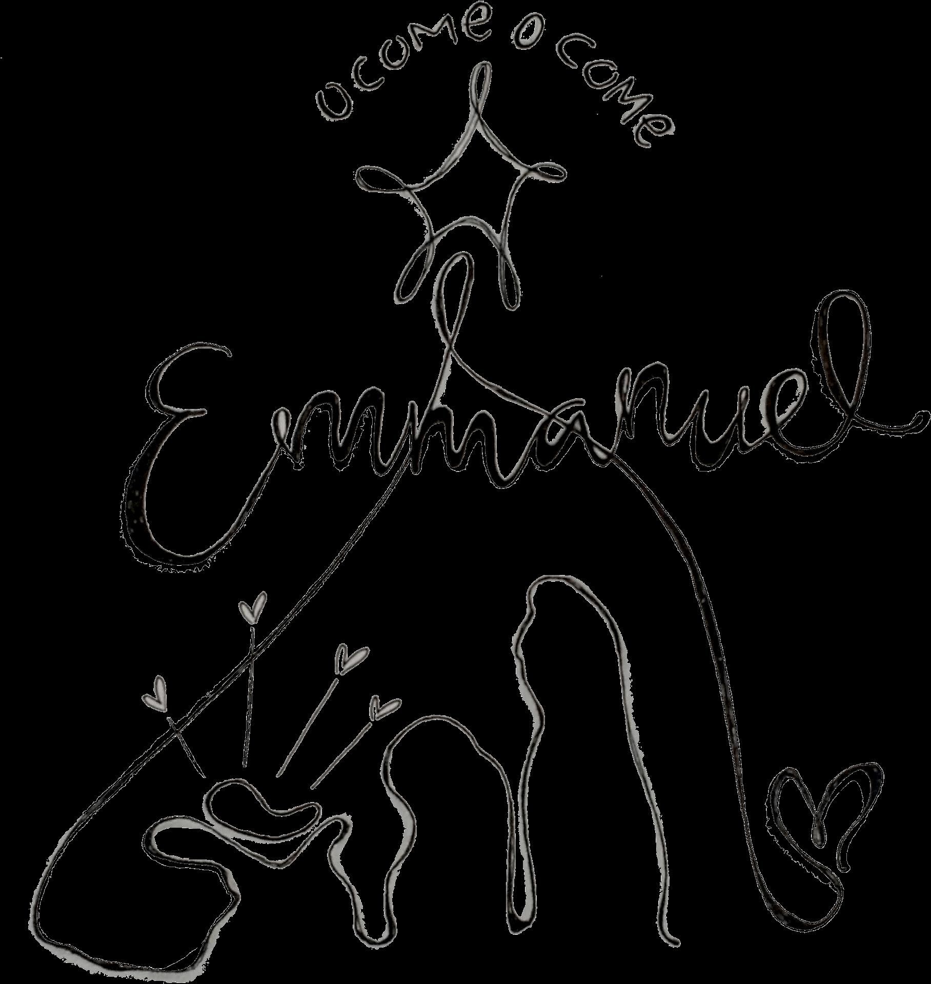 Oh come emmanuel clipart picture free download HD Chalkboard Doodles Doodle Ocomeemmanuel Suecarroll - O Come O ... picture free download