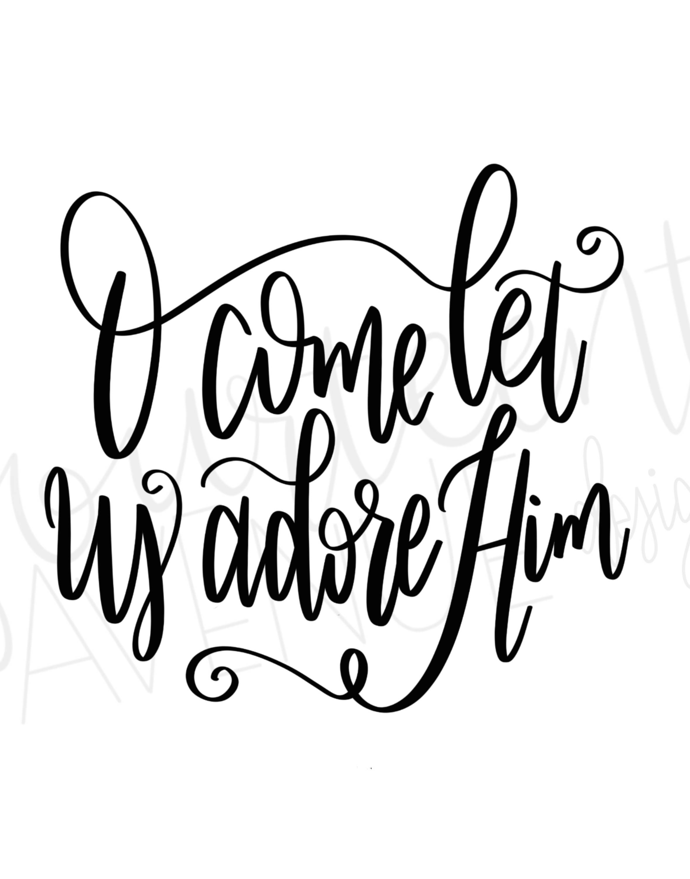 Oh come let us adore him clipart clip royalty free stock O Come Let Us Adore Him Cut File SVG, Christmas SVG, Oh Come Let us ... clip royalty free stock