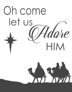 Oh come let us adore him clipart graphic freeuse Oh Come Let Us Adore Him graphic freeuse