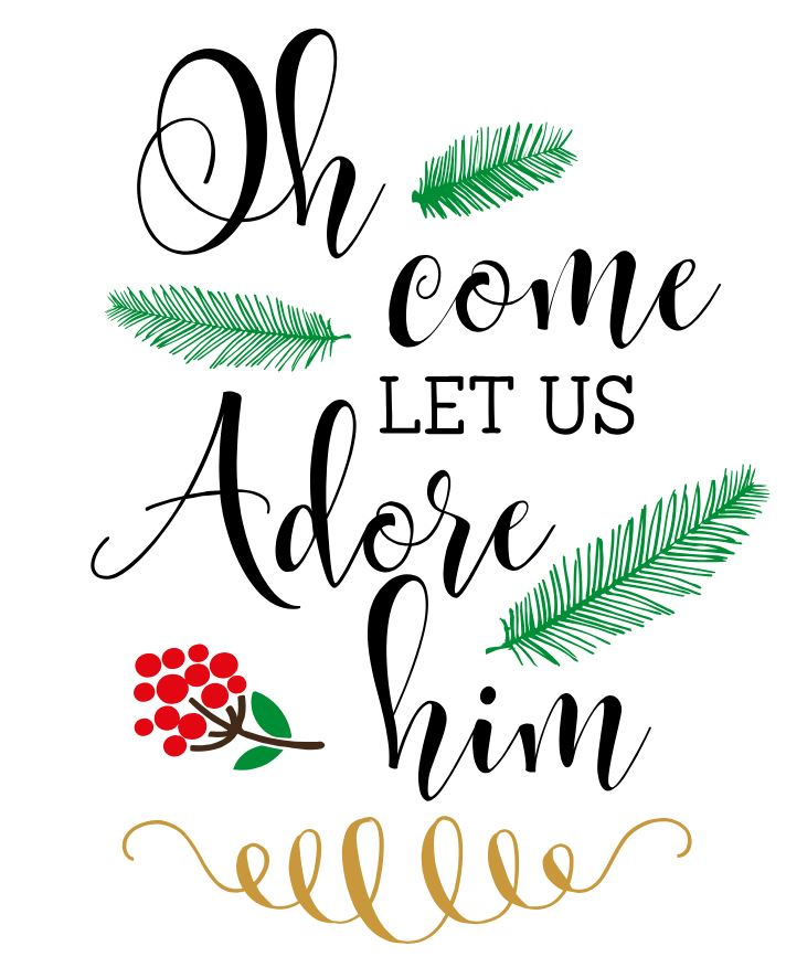 Oh come let us adore him clipart png free stock Oh Come Let Us Adore Him 11x16 png free stock
