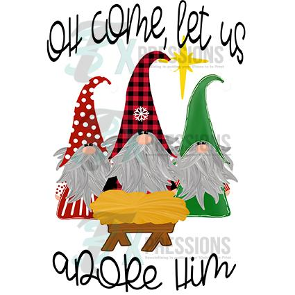 Oh come let us adore him clipart svg transparent stock Oh Come let us adore him Gnomes svg transparent stock