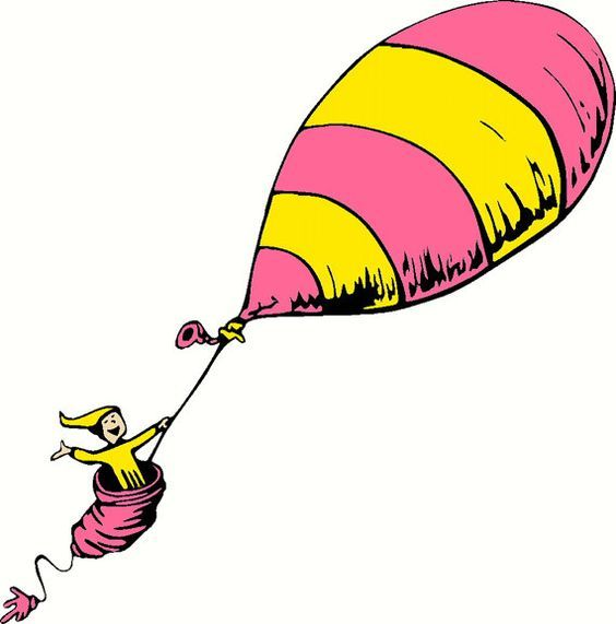 Oh the places you will go balloons clipart
