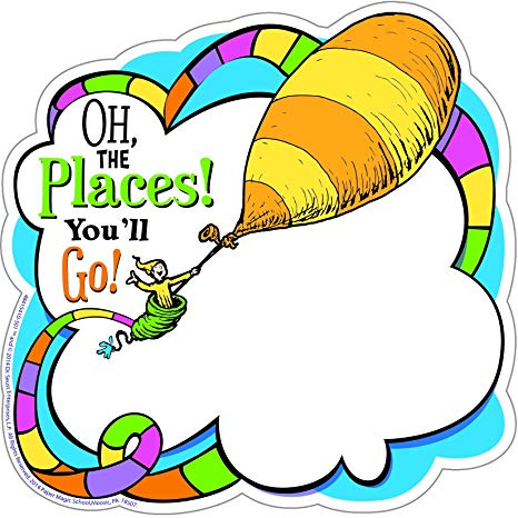 Oh the places you ll go graduation clipart graphic Eureka Dr. Seuss Oh The Places You\'ll Go! Paper Cut Outs for Schools and  Classrooms, 36pc, 5.5\
