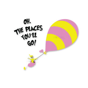 Oh the places you ll go hot air balloon clipart jpg freeuse Details about New Dr Seuss Kid from Oh the Places You\'ll Go Hot Air Balloon  Wall Decal Sticker jpg freeuse