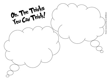 Oh the thinks you can think clipart clip art freeuse library obSEUSSed: Oh the Thinks You Can Think Dr. Seuss Activities ... clip art freeuse library