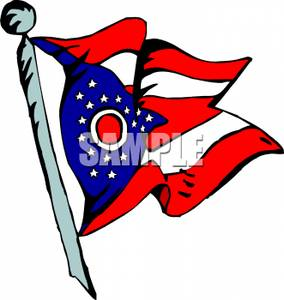 Ohio flag clipart banner transparent download State Flag of Ohio - Royalty Free Clipart Picture banner transparent download